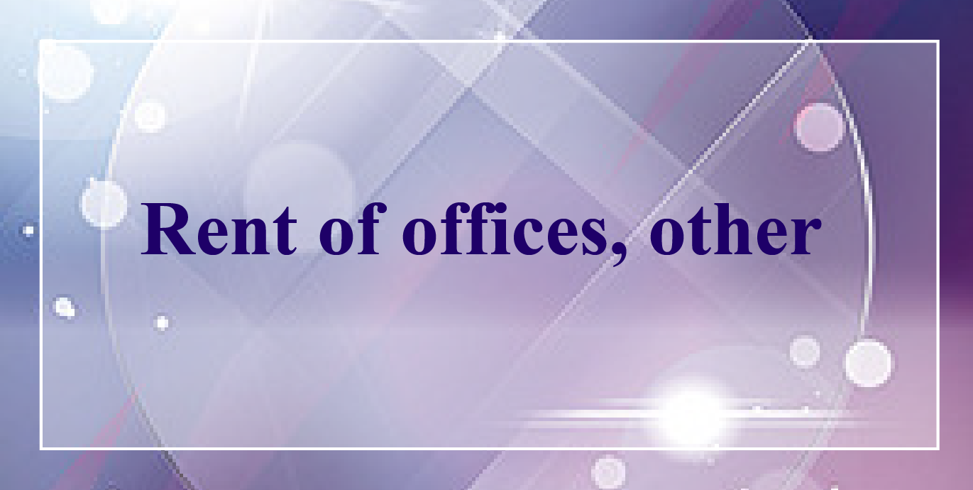 Rent of offices, other