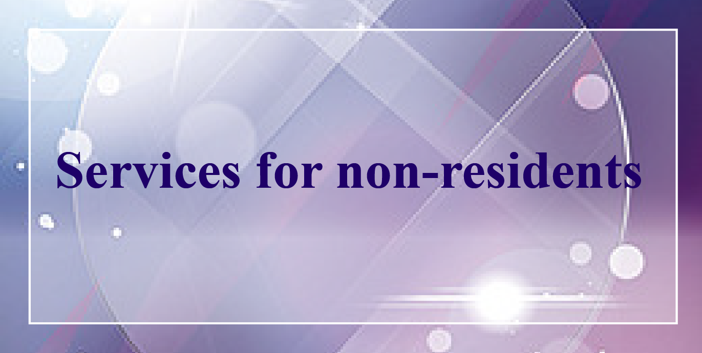 Services for non-residents